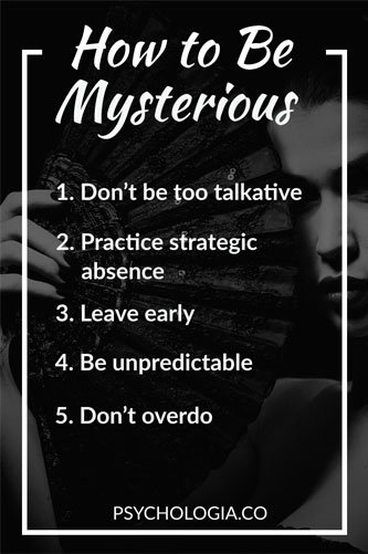 How to Be Mysterious (5 Steps)