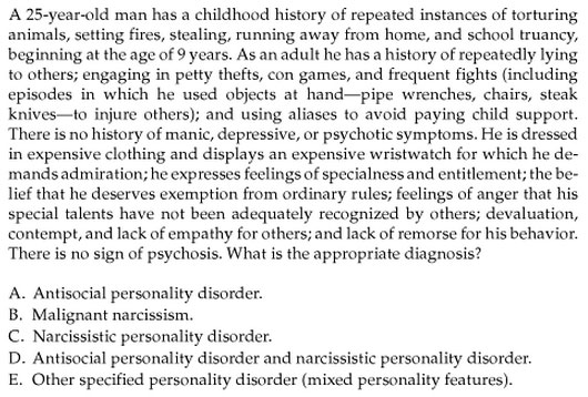 Narcissistic Personality Disorder?
