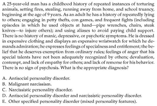 Narcissism malignant