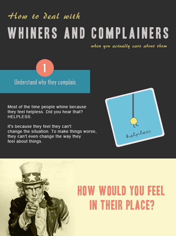 How to Deal With Whiners and Complainers