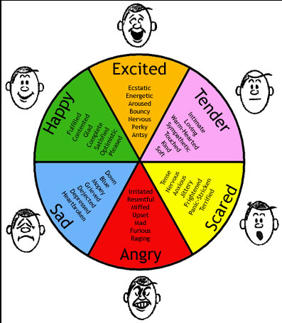 Six basic emotions according to Ekman