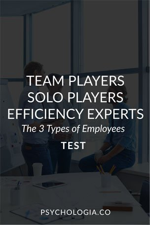 The 3 Types of Employees Test: Team Players, Solo Players, Efficiency Experts